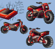 Magnhild bike reference by Lord-Evell
