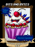 Cooking meme: Elecmon cupcakes by Lord-Evell