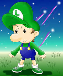 Baby Luigi's shooting stars by Bowser2Queen
