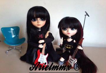 Garu and Aya ~ black dream by arielmmx