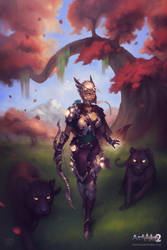Artemis the Holy Archer - Artwar2 by Silartworks
