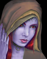 Portrait of an Alien Woman by paintgirl