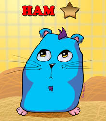 Ham Star the hipster hamster by paintgirl