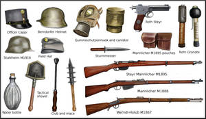 ww1 Austro-ungarian equipment by AndreaSilva60
