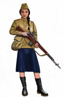 ww2 - 1943,  Red army Sniper by AndreaSilva60