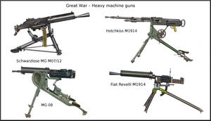 ww1 -  Heavy machine guns by AndreaSilva60