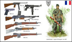 1st Indochina War:  French Weapons - 1er BEP para by AndreaSilva60