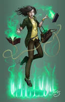 Green Witch by TheRogueSPiDER