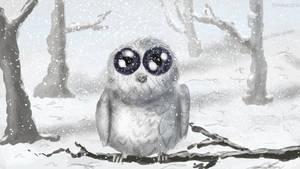 Little snow owl by Flowlow