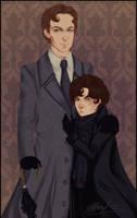 Mycroft and Sherlock by rivertem
