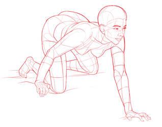 Crouching, Kneeling by POSEmuse