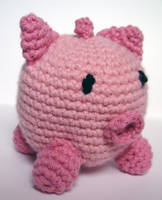 crochet cashmere pig by meekssandygirl