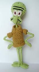 crochet Squidward Tentacles 2 by meekssandygirl