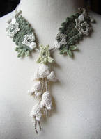 Crochet Art Nouveau Necklace by meekssandygirl