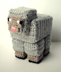 Crochet Minecraft Sheep by meekssandygirl