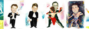 My caricatures by Muti-Valchev