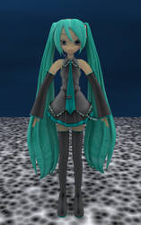Hatsune Miku Cycles Render by Nocturneon