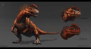 Animal study - Monolophosaurus by RAPHTOR