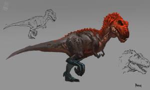 Animal study - Tyrannosaur by RAPHTOR