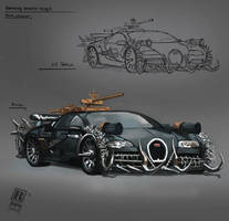 Bugatti Veyron  fortified - post apocalyptic by RAPHTOR