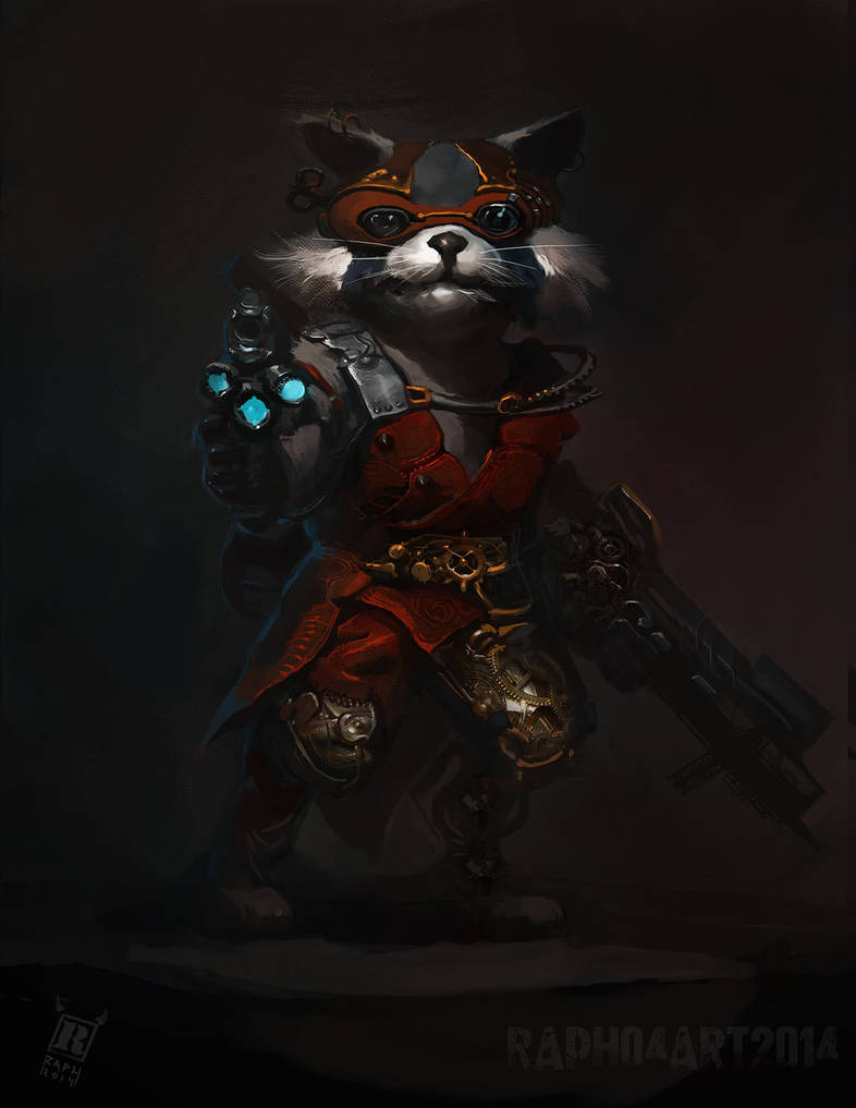 Steampunk Rocket Raccoon by RAPHTOR