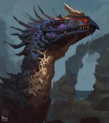 Mystic Dragon head by RAPHTOR