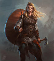 Female Viking warrior 2 by RAPHTOR