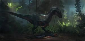 Jurassic Park III Raptor study by RAPHTOR