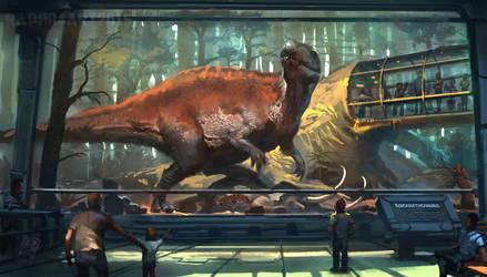 Mesozoic Land: Acrocanthosaurus by RAPHTOR
