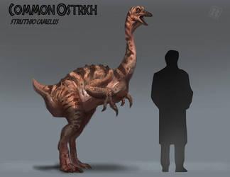 Ostrich - Jurassic Park version by RAPHTOR