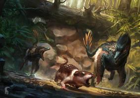 Saurian art - Acheroraptor by RAPHTOR
