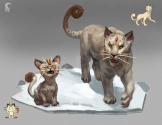 Meowth - Persian by RAPHTOR