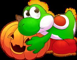 . : Yoshi - Halloween 2014 : . by AxlRosie