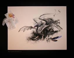 Circling Skies - Swan by cryslara