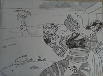 Saleemah in the desert by JunWinterheart
