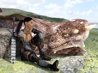 Dark Warrior by 3Dfantasyworld