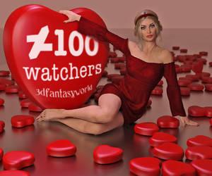 Celebrating 100 watchers by 3Dfantasyworld