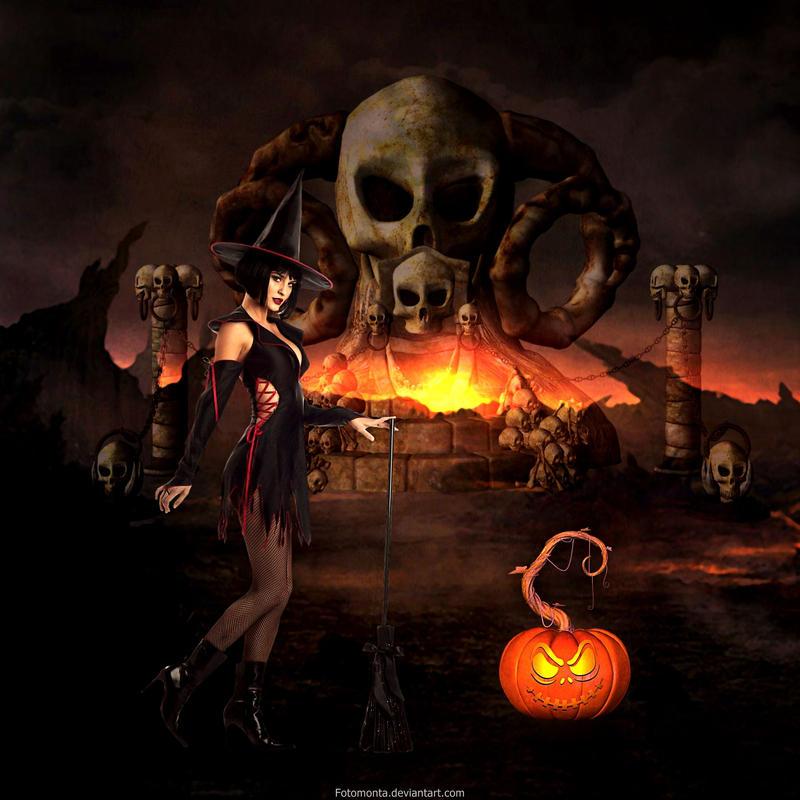 Halloween Scene by Fotomonta
