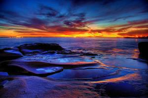 Sunset watercolours by Kounelli1