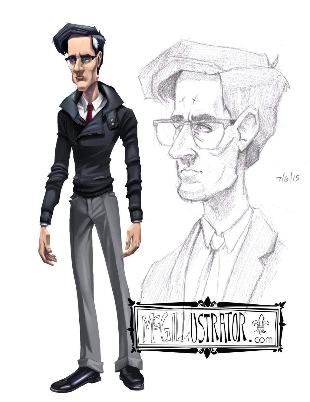 OC Character Concept by McGillustrator