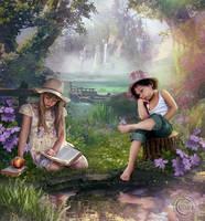 Adam and Eve by AliaChek