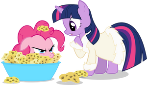 Twilight and Spongie Pie by GoblinEngineer