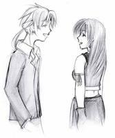 Reno and Tifa: Laughing by Seii-Monogatari