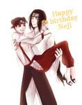 Happy birthday Neji (July 3) by violetleegee