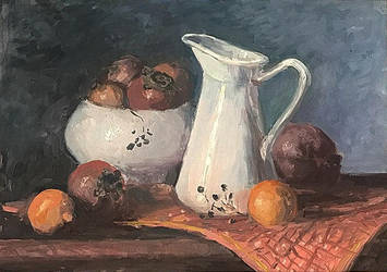 Still life with pomegranates and oranges by GoodSalart
