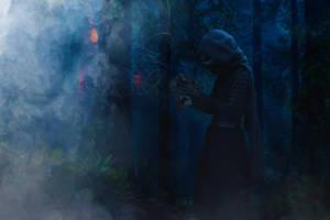 Kylo Ren found Darth Vader's helmet by Shamrock-Cosplay
