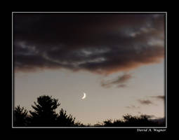 Early Evening Crescent Moon by David-A-Wagner