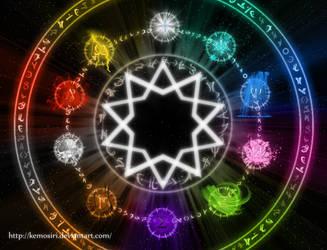 Elemental Wheel by Kemosiri