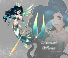 [CLOSED] AUCTION Mermaid Warrior by WhiteLie-Adopt