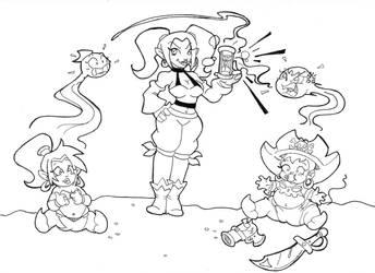 Shantae Half Pint Hero by Schnopszilla